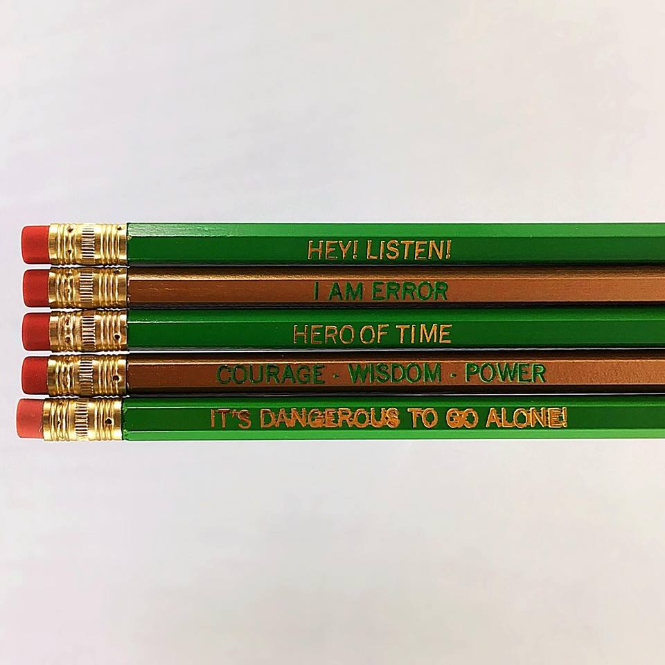 Set of 5 'Legend of Zelda' Pencils