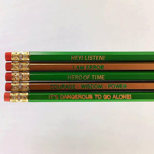 Set of 5 'Zelda' Pencils