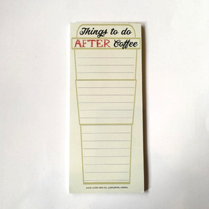 After Coffee List Notepad