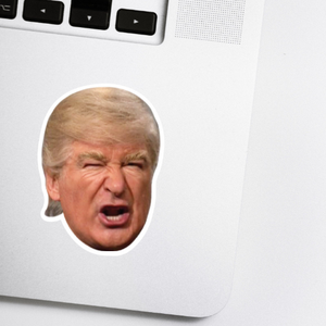 Alec Baldwin as Trump Celebrity Head Sticker