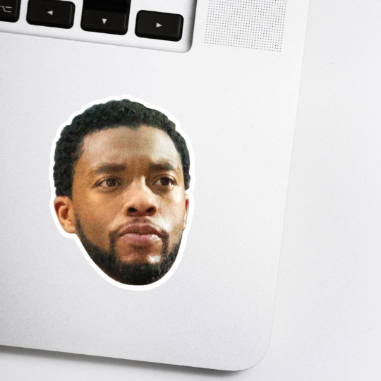 Black Panther Celebrity Head Sticker (Chadwick Boseman)