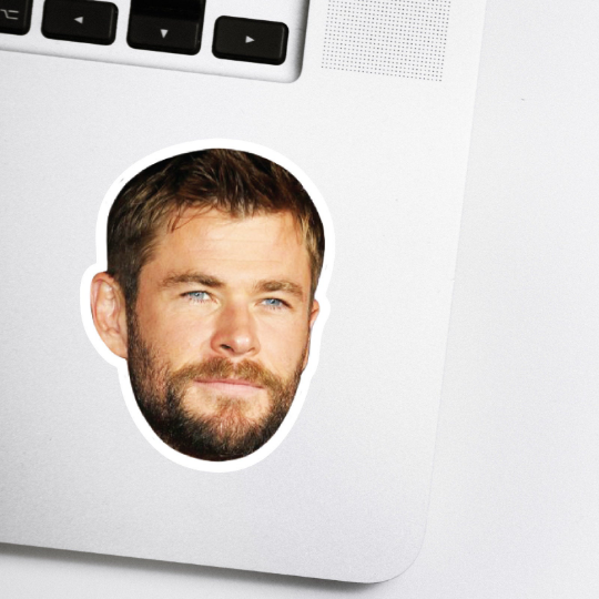 Chris Hemsworth Celebrity Head Sticker