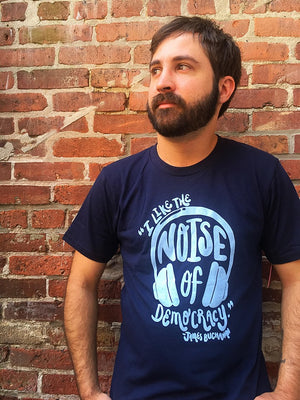 James Buchanan 'Noise of Democracy' Made in USA T-Shirt