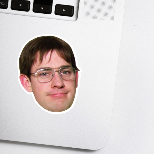 Jim as Dwight Celebrity Head Sticker - The Office