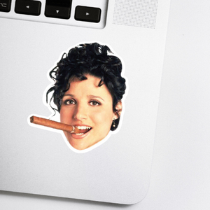Elaine Celebrity Head Sticker - Seinfield