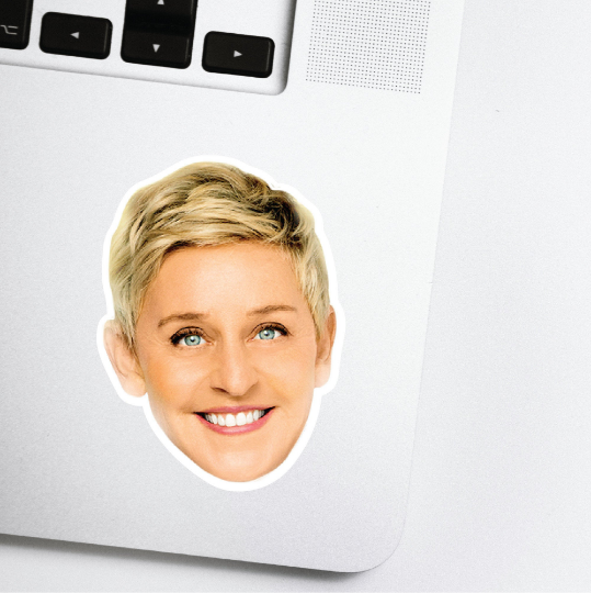 Ellen Degeneres Celebrity Head Sticker