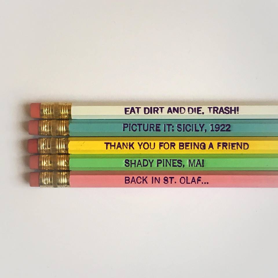 Golden Girls Quote Pencils ~ Set of 5