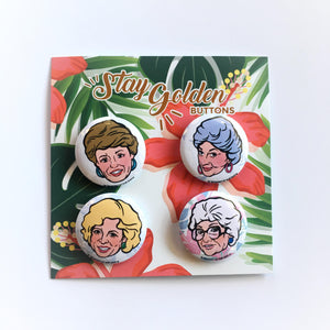 Golden Girls Pins - Set of 4