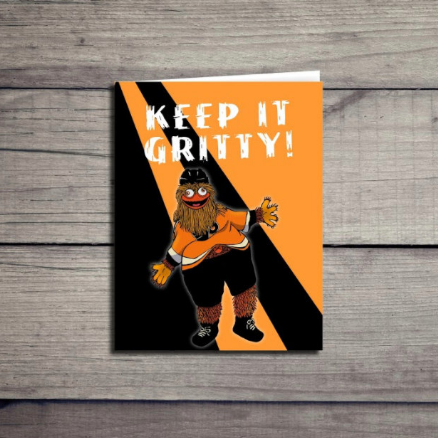 Gritty Philadelphia Flyers Mascot Sticker Card
