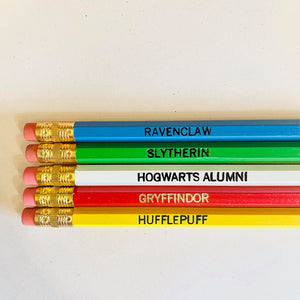 Harry Potter Pencils - Hogwarts Houses Set of 5