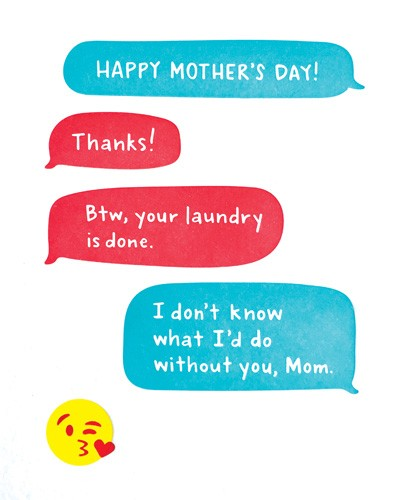 Mother's Day Text Card