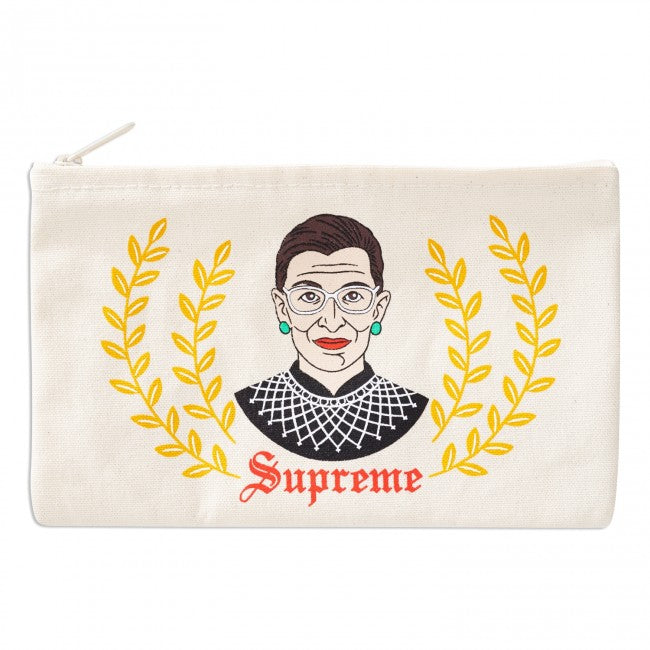 Ruth Bader Ginsburg Canvas Pouch by The Found
