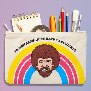 Bob Ross Canvas Pouch by The Found