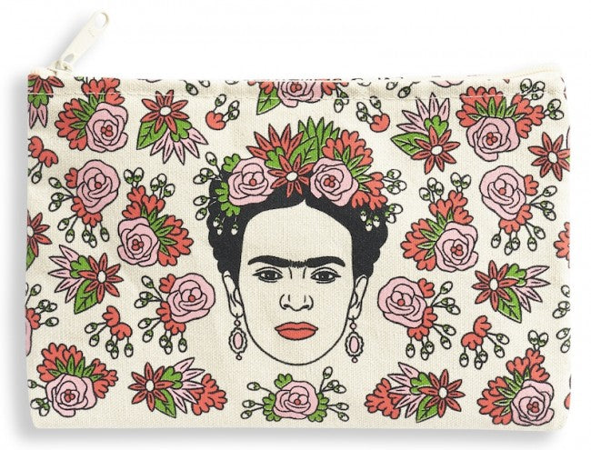 Frida Kahlo Canvas Pouch by The Found
