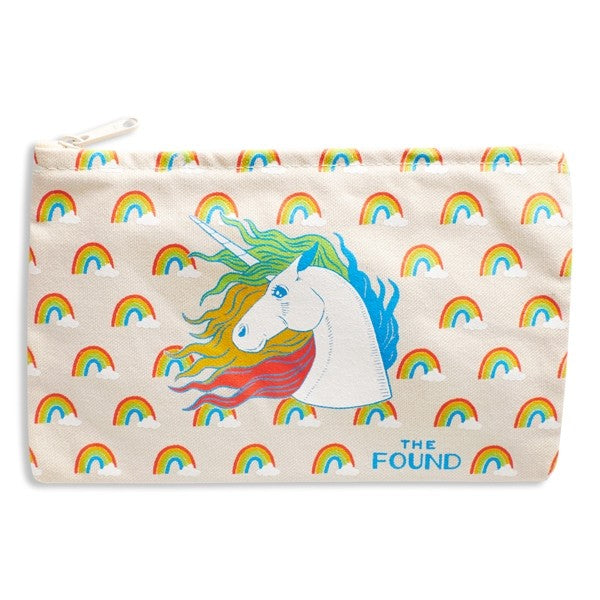 Unicorns & Rainbows Canvas Pouch by The Found