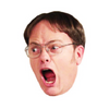 Dwight Schrute Celebrity Head Sticker - The Office