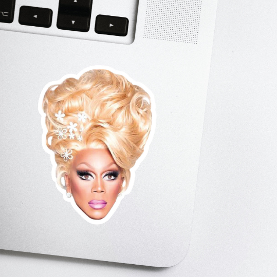 RuPaul's Drag Race Celebrity Head Sticker