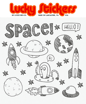 Color Your Own - Outer Space Sticker Pack