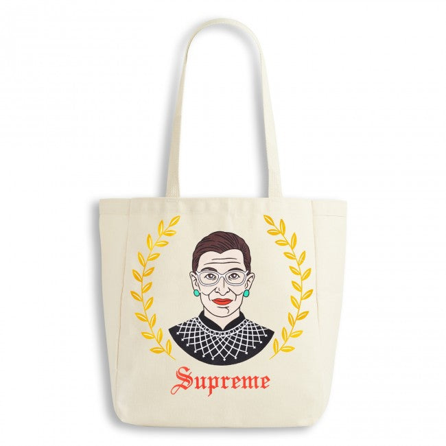 Ruth Bader Ginsburg Canvas Tote Bag by The Found