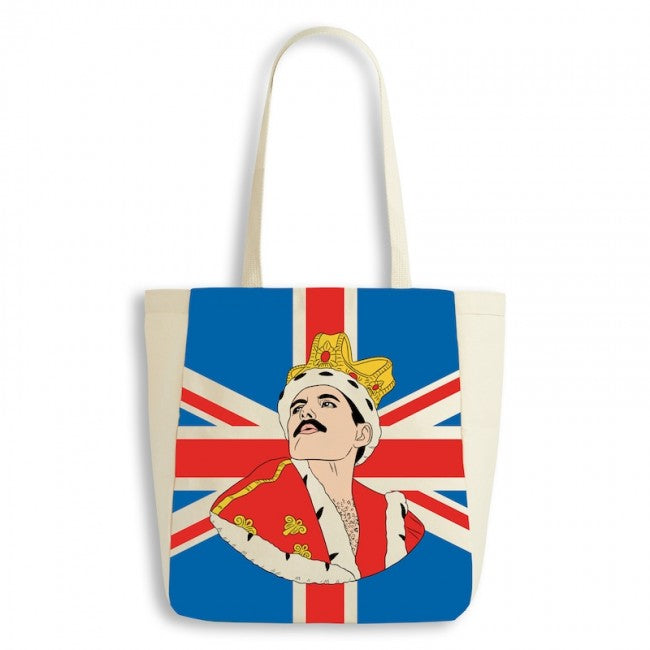 Freddie Mercury Canvas Tote Bag by The Found