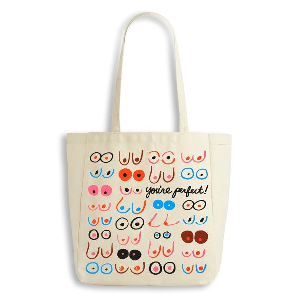Boobs Your Perfect Canvas Tote Bag by The Found
