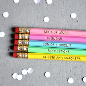 "Set of 5 ""Watch Your Mouth"" Pencils"