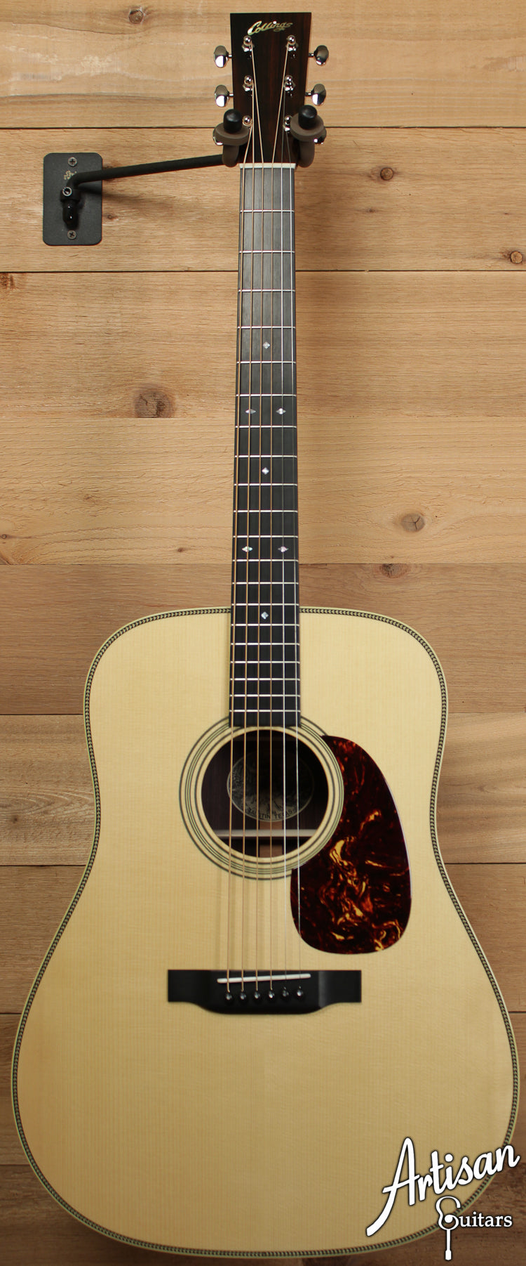Collings D2HA Varnish Custom Adirondack Spruce and Indian Rosewood No Tongue Brace and Adirondack Bracing ID-6509