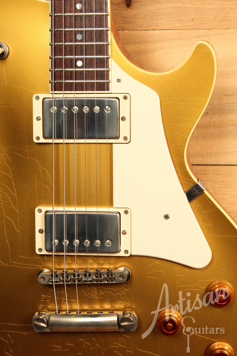 Collings City Limits in Custom Aged Gold Flame Top with Aged Hardware and ThroBak Humbuckers ID-11564