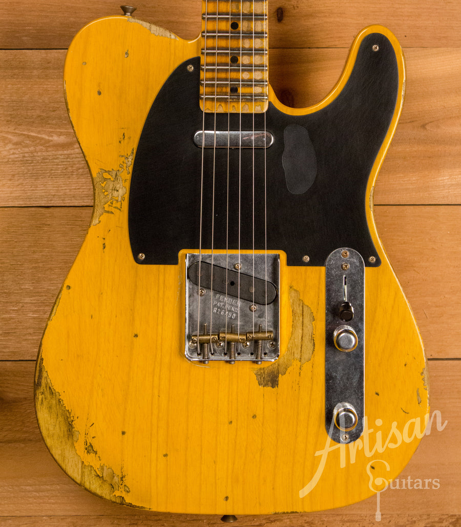 Fender Custom Shop 1953 Heavy Relic Telecaster Butterscotch Blonde Finish ID-11140