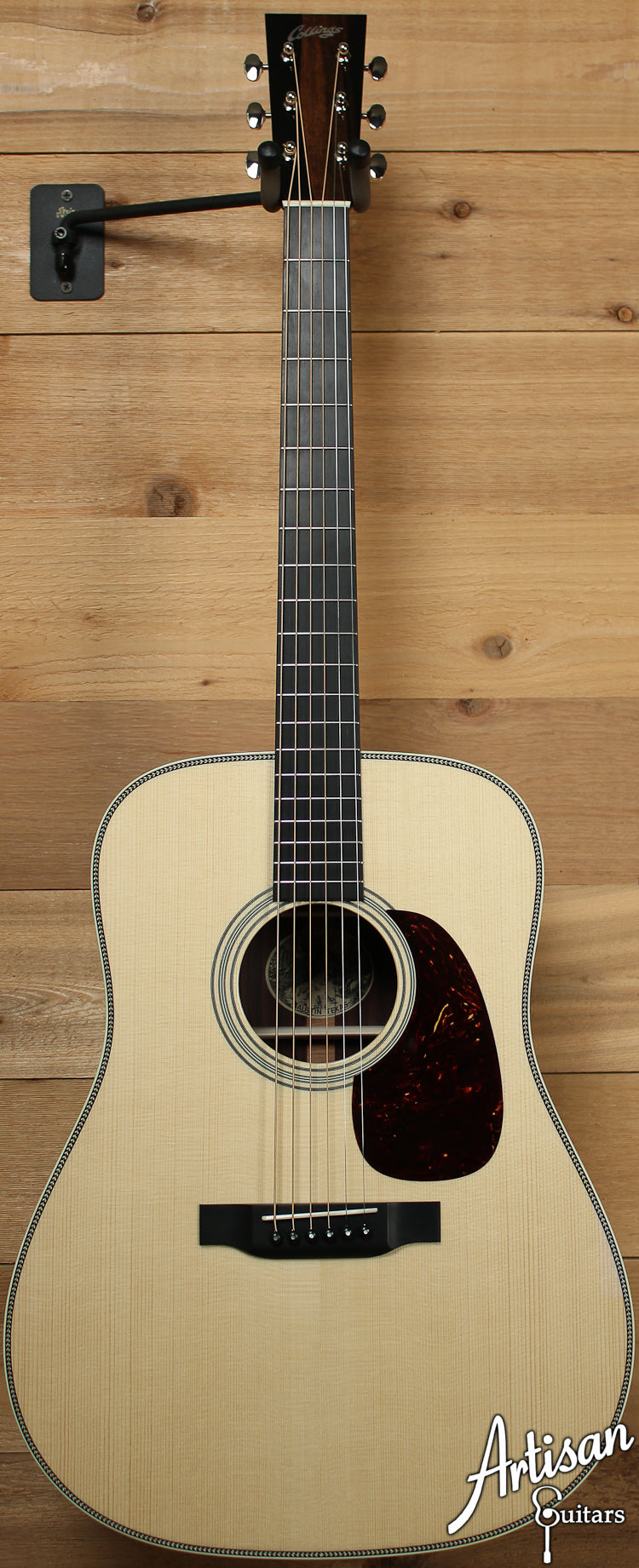Collings D2HG German Spruce and Indian Rosewood with Adirondack Bracing and No Tongue Brace ID-7099 - Artisan Guitars