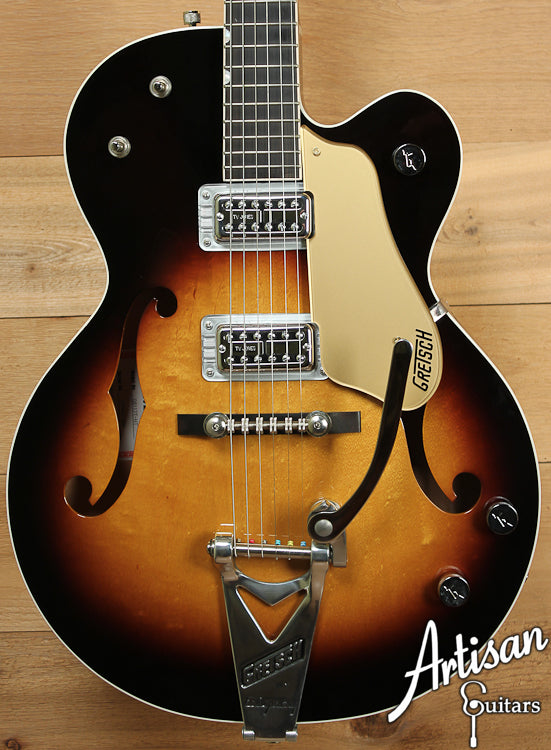 2004 Gretsch Double Anniversary Model G6117 HT Sunburst ID-6989 - Artisan Guitars