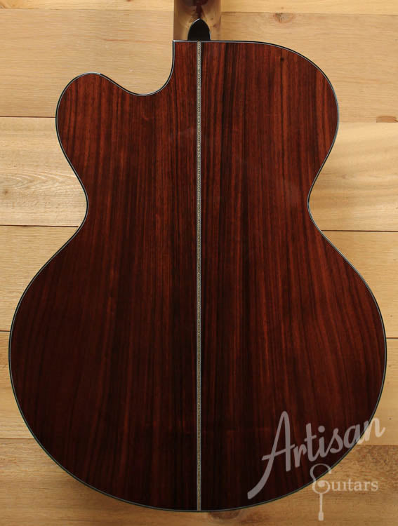 2004 Huss and Dalton MJC Jumbo Cutaway Sitka Spruce and Indian Rosewood ID-9047 - Artisan Guitars