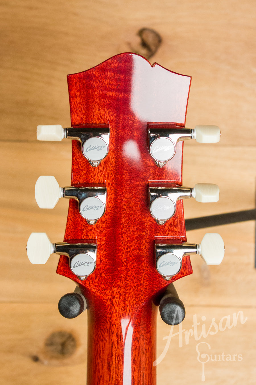 Collings I35 Deluxe Dark Cherry Full Body SB and Bigsby  ID-10935 - Artisan Guitars