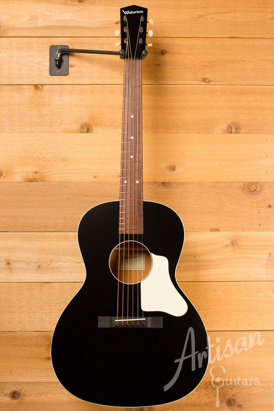 Waterloo WL-14L Guitar with Truss Rod Jet Black Finish ID-10363 - Artisan Guitars