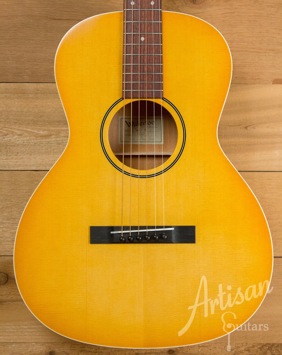 Waterloo WL-K X Braced Guitar with Light Sunburst Finish ID-10940 - Artisan Guitars