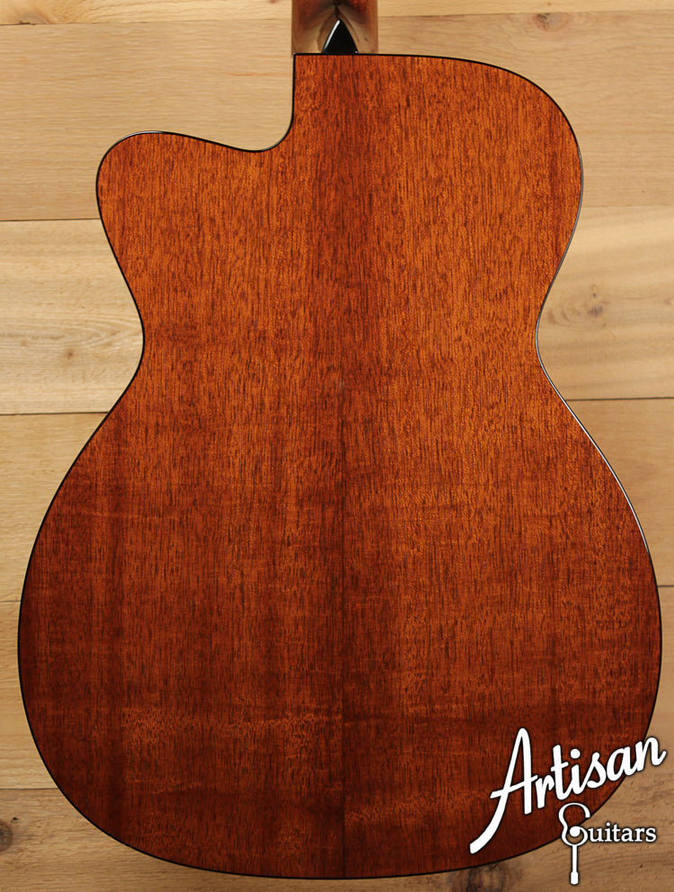 Collings OM1A Cutaway Sunburst Adirondack Red Spruce and Mahogany  ID-6496 - Artisan Guitars