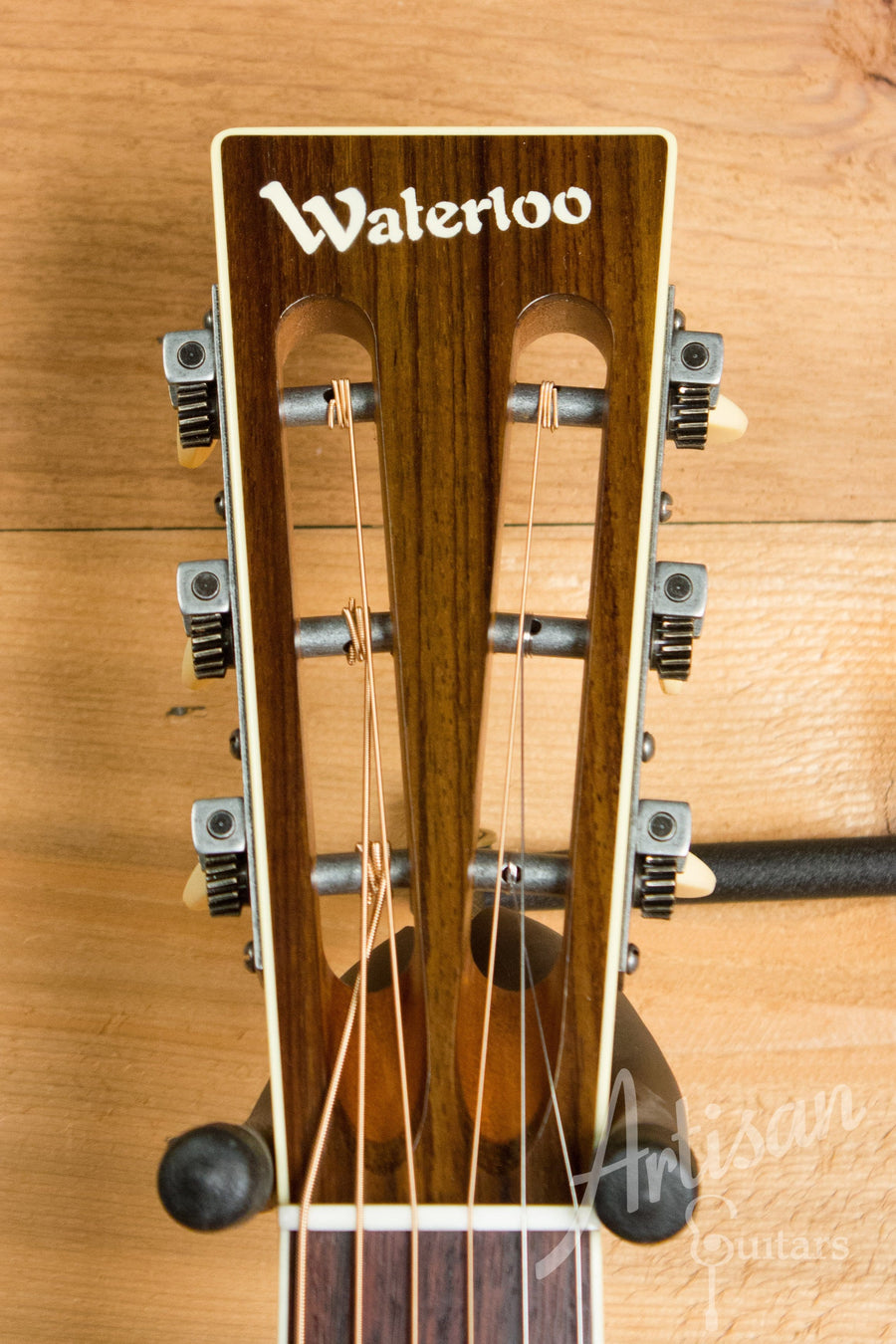 Waterloo WL-S DLX Ladder Braced Guitar Solid Spruce and Cherry ID-11212 - Artisan Guitars