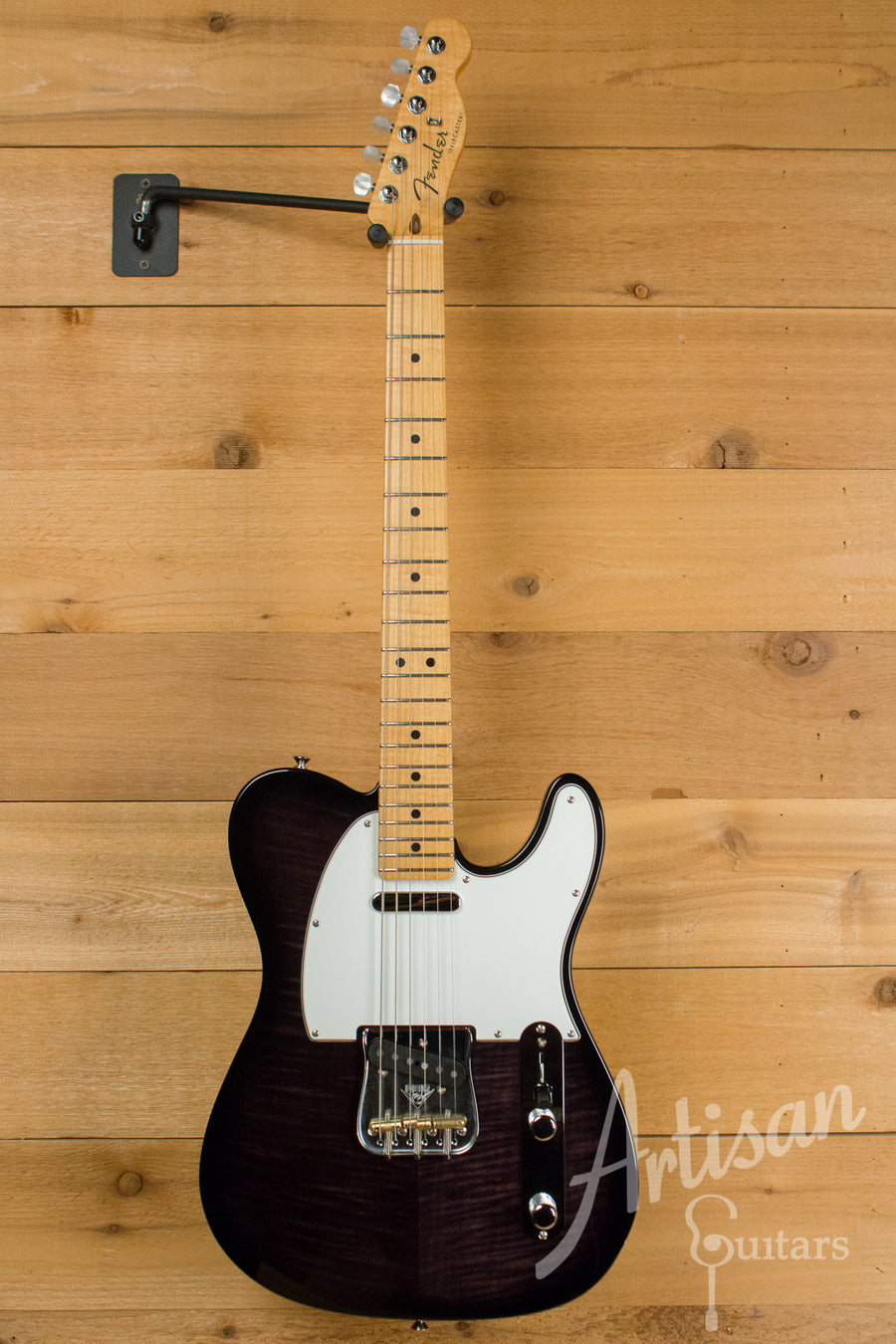 Fender Custom Shop Deluxe Tele with Transparent Ebony Finish Pre-Owned 2015 ID-10948