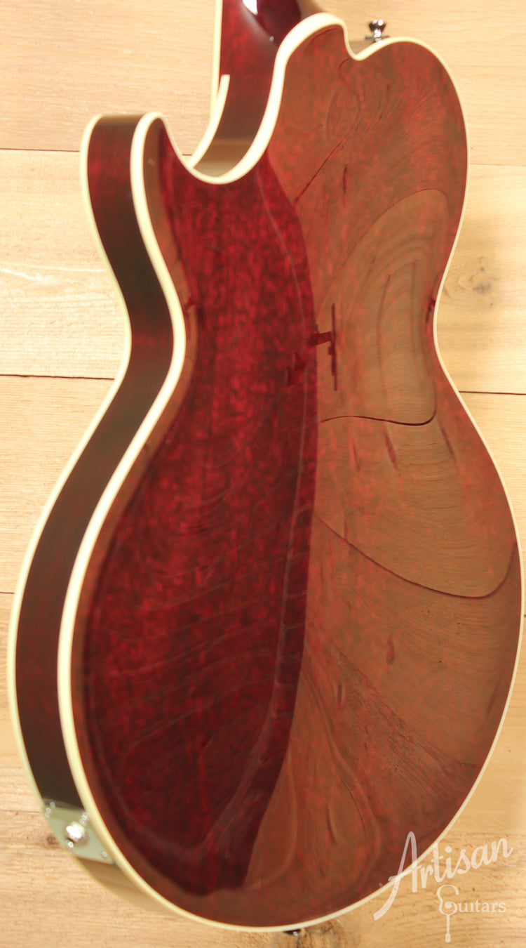Collings SoCo Deluxe Custom Spruce top in Merlot Finish ID-8207 - Artisan Guitars