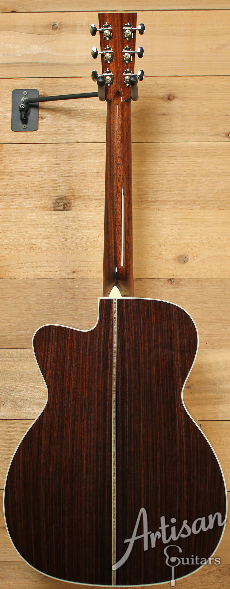 Collings OM2 E Cutaway Englemann and Indian Rosewood with Adirondack Braces ID-7362 - Artisan Guitars