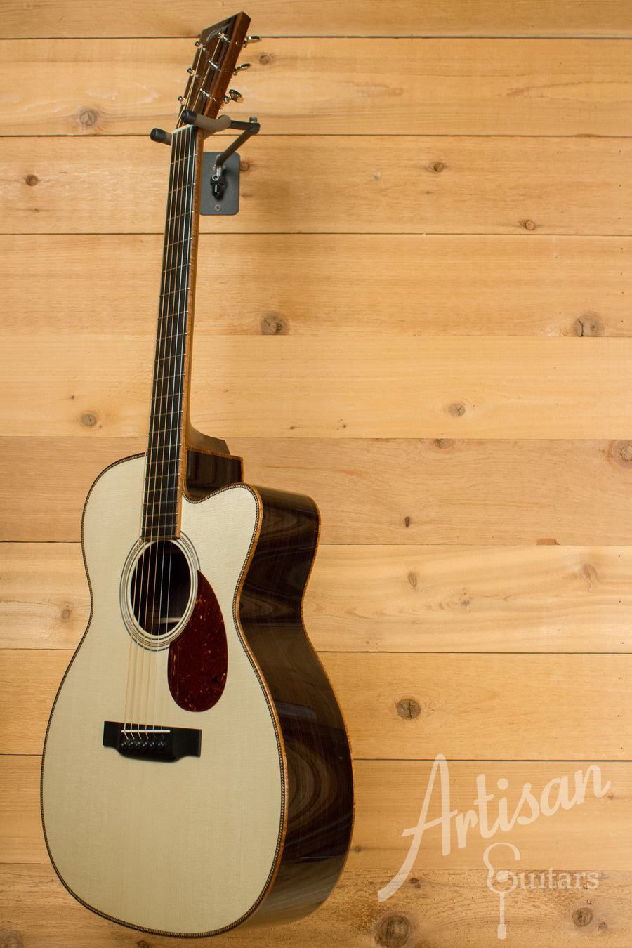 Collings OM2H E Guitar Cutaway Engelmann Spruce and Indian Rosewood with Koa Binding ID-10929 - Artisan Guitars