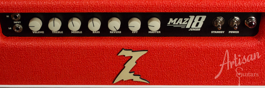 Dr. Z Maz 18 1x12 Combo Red with Salt and Pepper Grille Cloth and Celestion Blue Speaker ID-10761 - Artisan Guitars