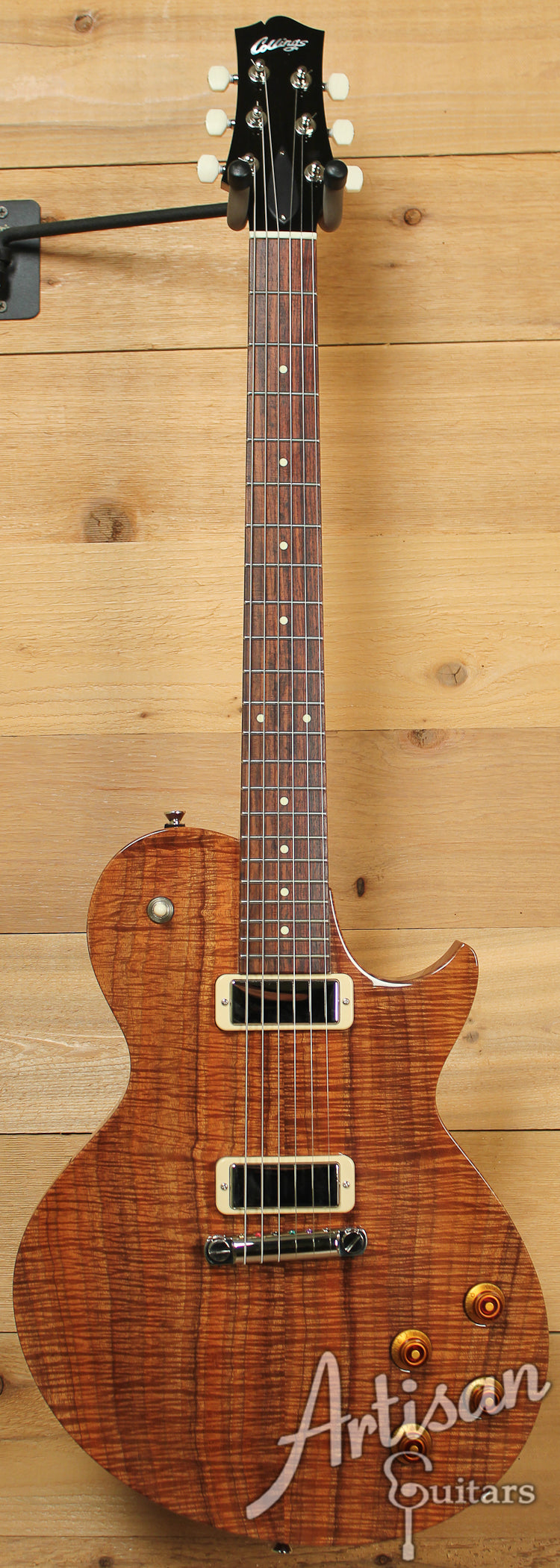Pre Owned Collings 360Koa 2012 Natural Finish with 2 Jason Lollar Firebird Mini Humbuckers ID-7612 - Artisan Guitars