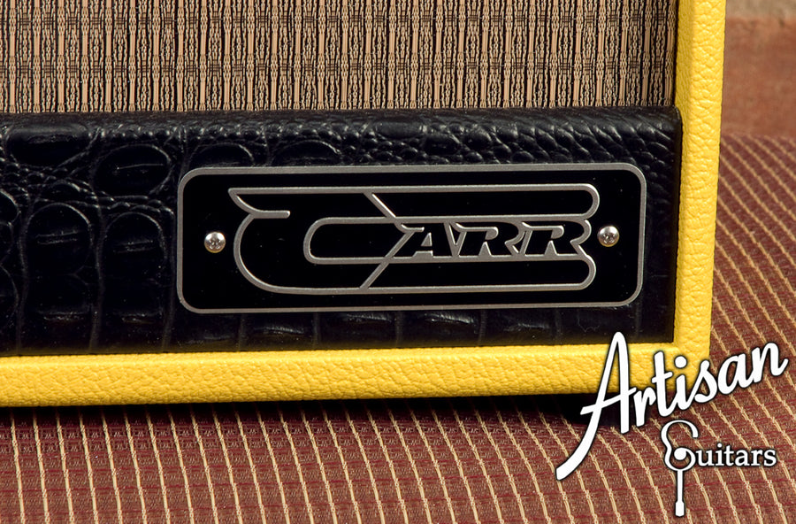 Carr Raleigh 1x10 TV Yellow with Tan Grill Cloth and Black Gator Trim ID-5315