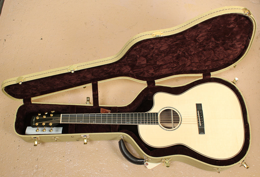Pre Owned 2011 Huss and Dalton FS Engelmann Spruce and Indian Rosewood ID-8157 - Artisan Guitars