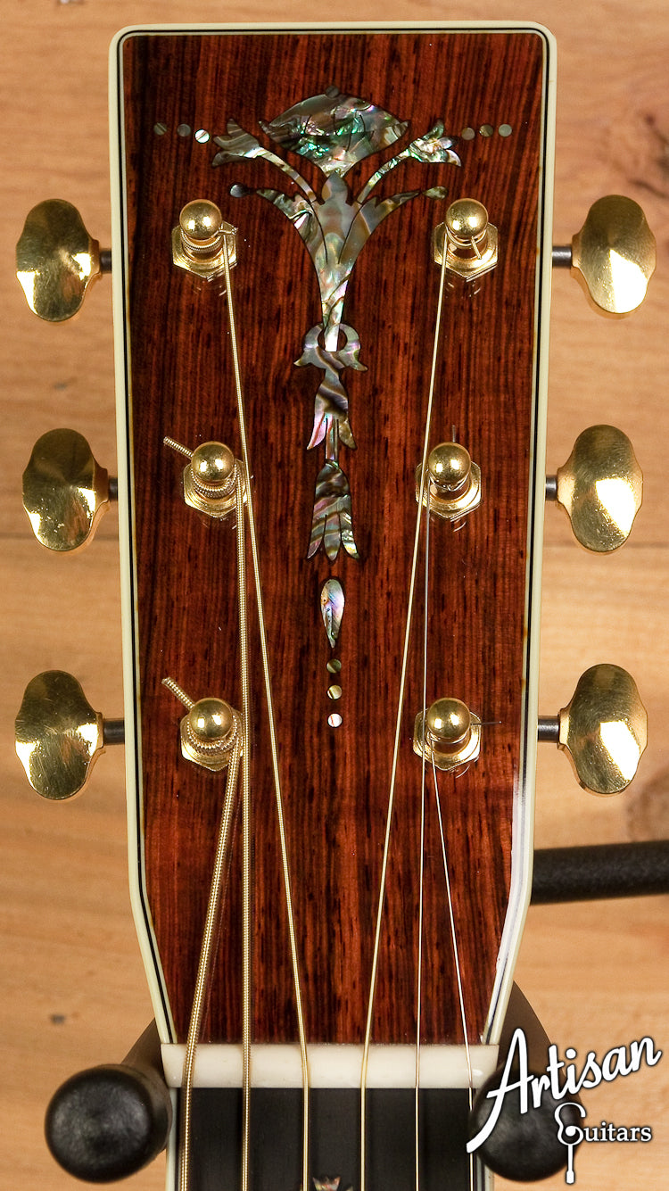 2000 Santa Cruz Custom D-45 European Spruce and Brazilian Rosewood  ID-6096 - Artisan Guitars