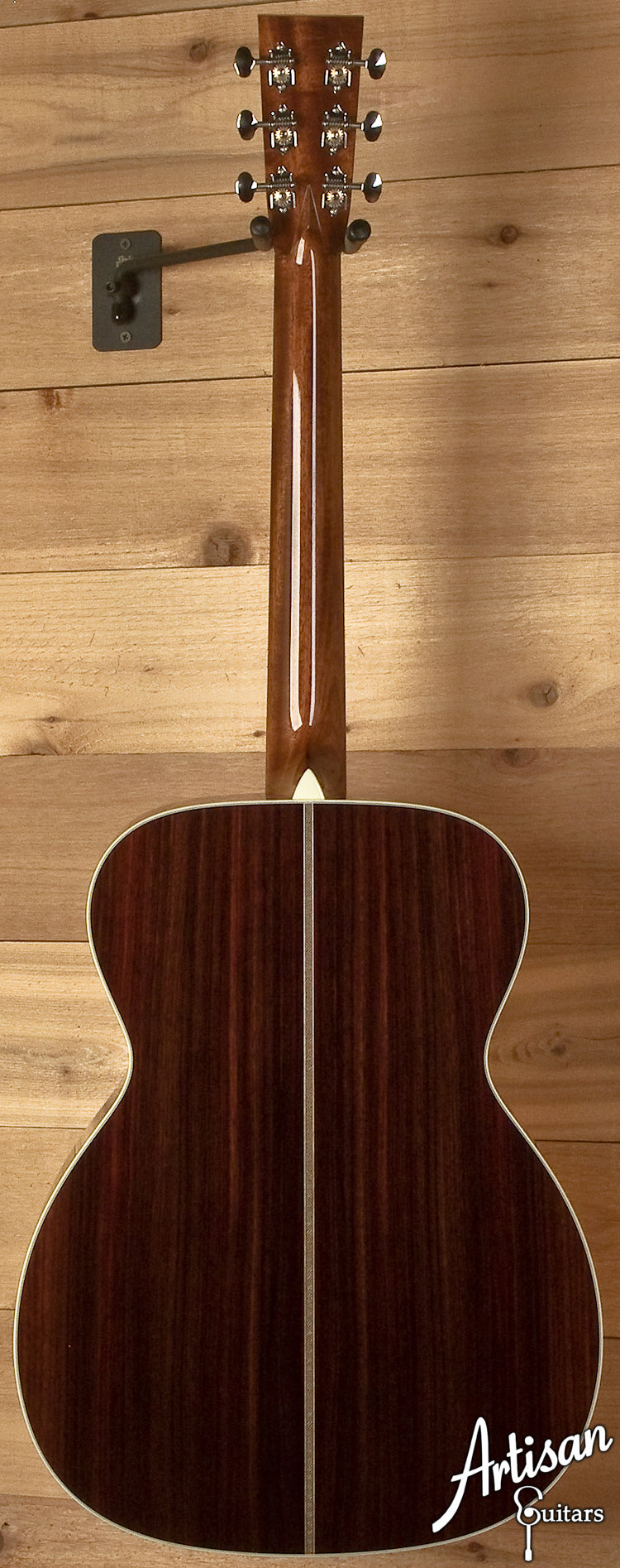 Collings OM2A Custom Abalone Rosette Adirondack Spruce and Indian Rosewood  ID-5856 - Artisan Guitars