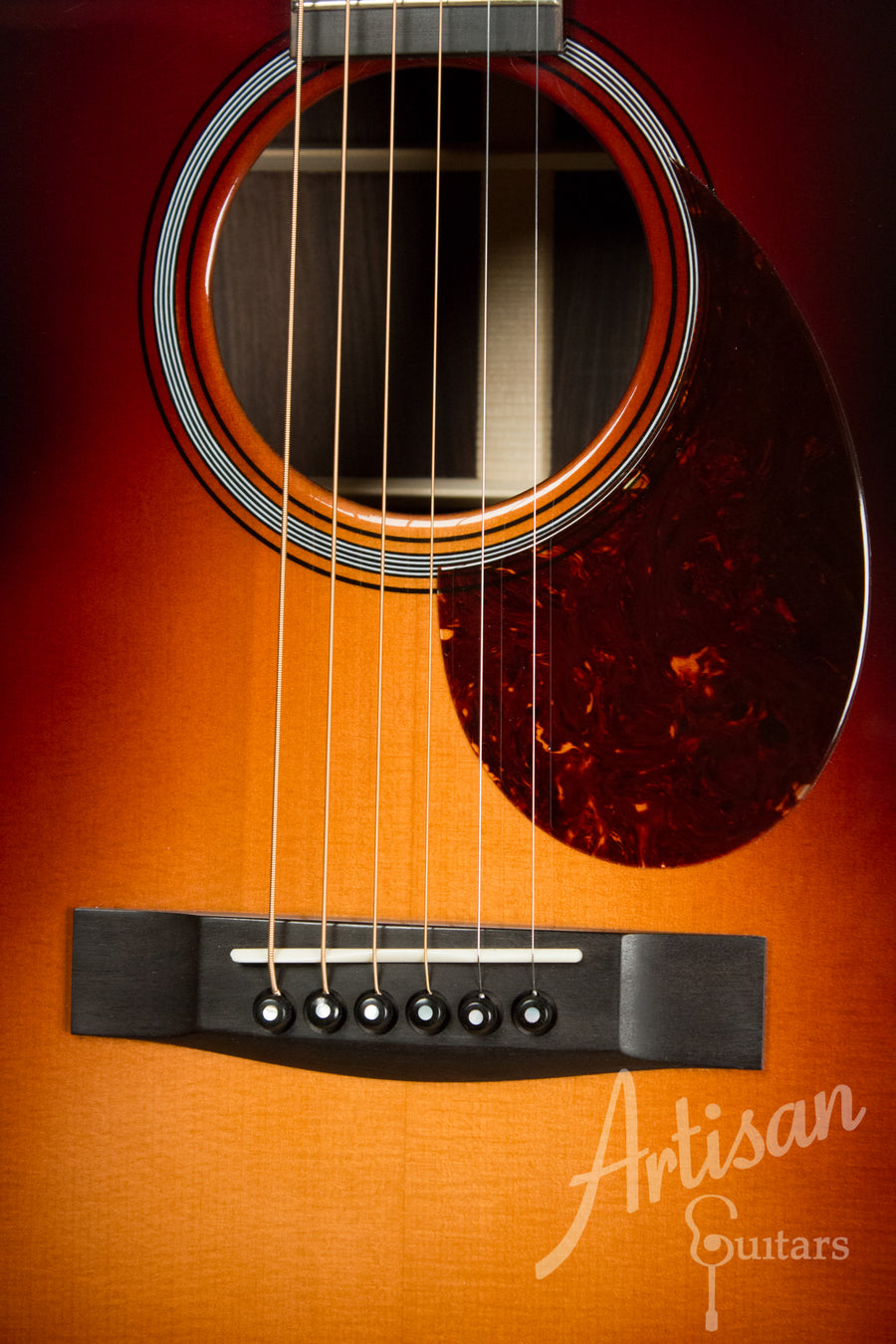 Huss and Dalton Custom T 0014 Englemann Spruce and Indian Rosewood with Sunburst Finish ID-10982 - Artisan Guitars