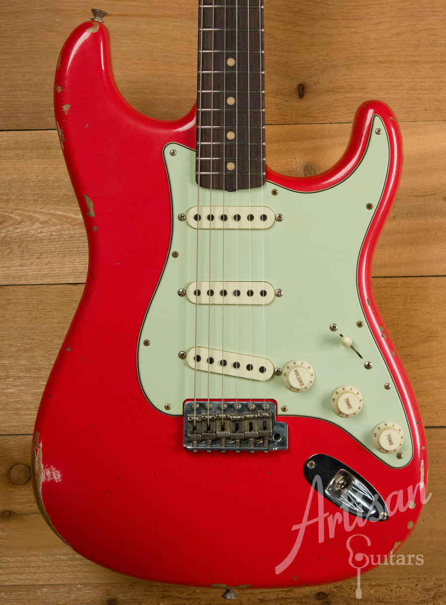 Fender Custom Shop 1960 Relic Stratocaster Aged Fiesta Red Finish ID-11143