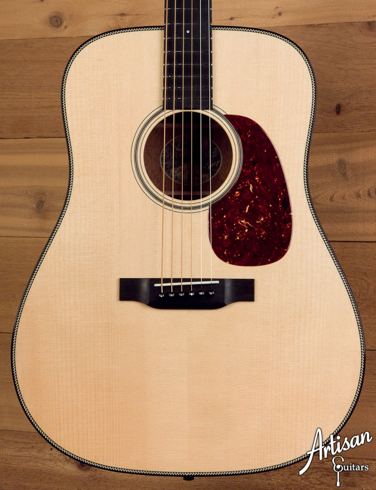 Collings D1HA Adirondack Spruce and Mahogany with Custom Herringbone ID-5170 - Artisan Guitars